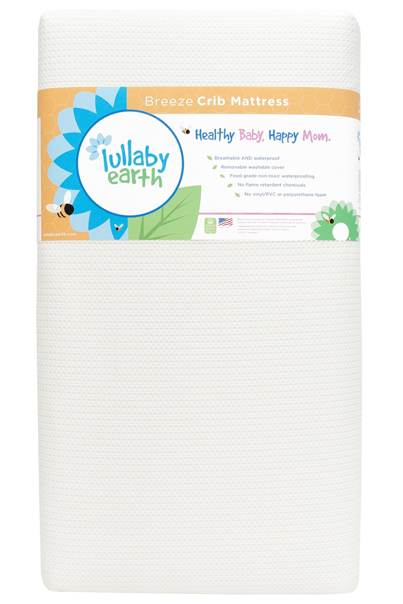 Lullaby Earth Breeze 2-stage Crib Mattress - White