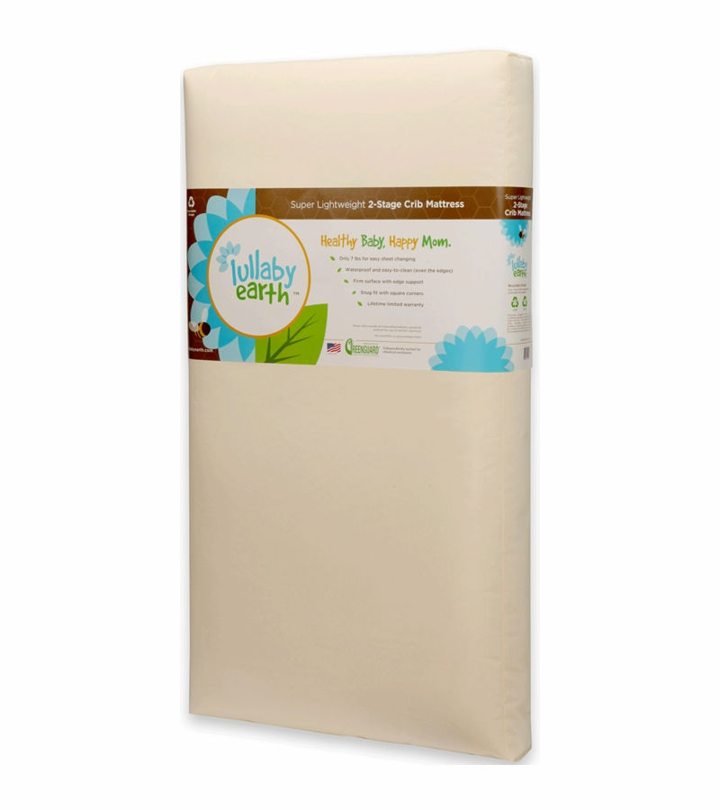 lullaby earth super lightweight 2 in 1 crib mattress