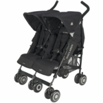 Maclaren 2009 Twin Techno Double Stroller Black with Black Frame