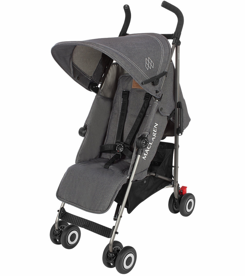 maclaren 2016 2017 quest stroller denim charcoal. Black Bedroom Furniture Sets. Home Design Ideas