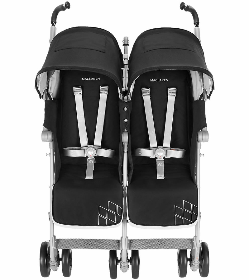 maclaren 2016 twin techno double stroller black. Black Bedroom Furniture Sets. Home Design Ideas