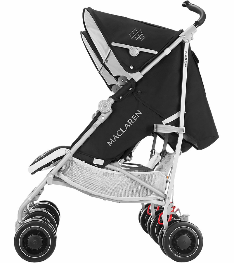maclaren 2016 2017 twin techno double stroller black. Black Bedroom Furniture Sets. Home Design Ideas