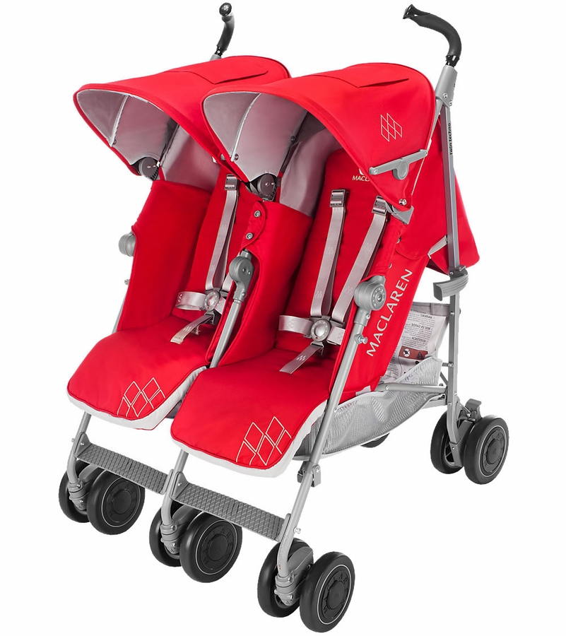 maclaren 2016 twin techno double stroller cardinal. Black Bedroom Furniture Sets. Home Design Ideas