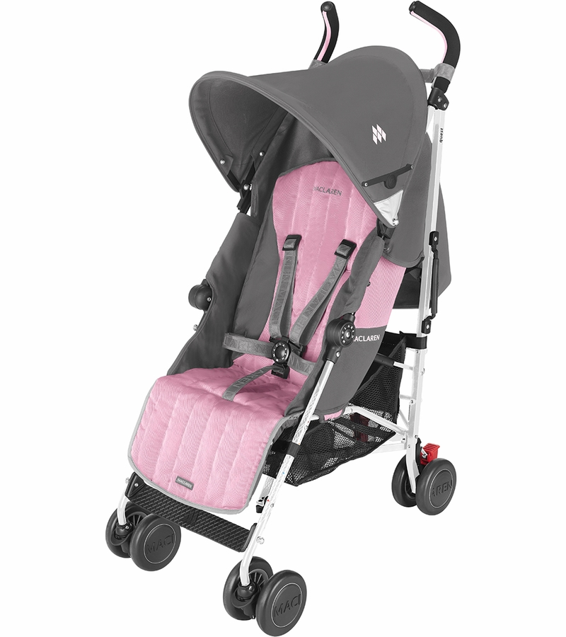 pink umbrella stroller girls maclaren quest folding travel pushchairs pram buggy ebay. Black Bedroom Furniture Sets. Home Design Ideas