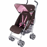 Maclaren Techno XLR 2008 Stroller Brown / Powder Pink