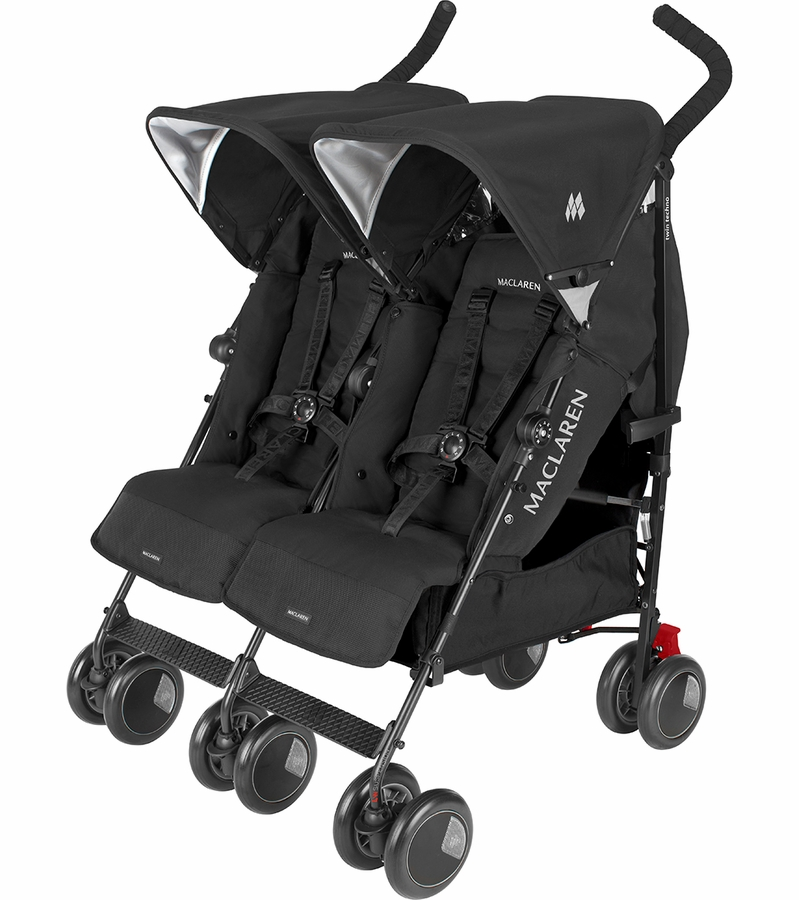 maclaren twin techno double stroller black. Black Bedroom Furniture Sets. Home Design Ideas