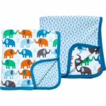 Magnificent Baby Boy's Elephant On Parade/El Marrakesh 2-Ply Blanket