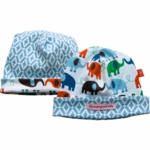 Magnificent Baby Boy's Elephant On Parade/El Marrakesh Reversible Hat - 0 to 12 Months