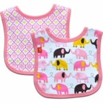 Magnificent Baby Girl's Elephant On Parade/El Marrakesh Reversible Bib - 0 to 6 Months