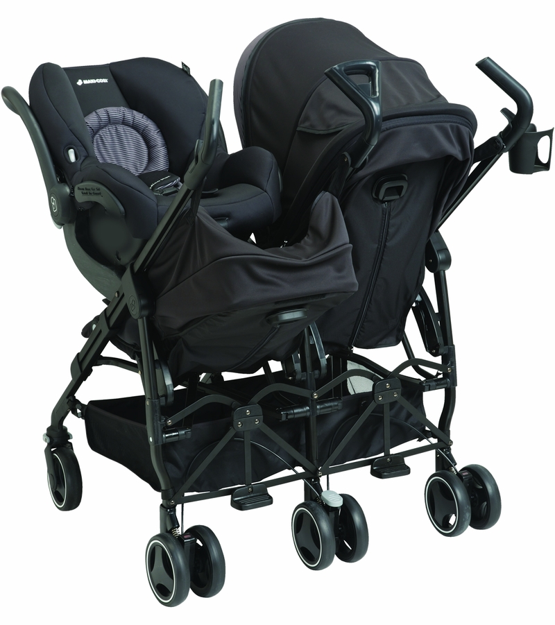 Maxi cosi dana for2 double stroller devoted black for Maxi cosi housse