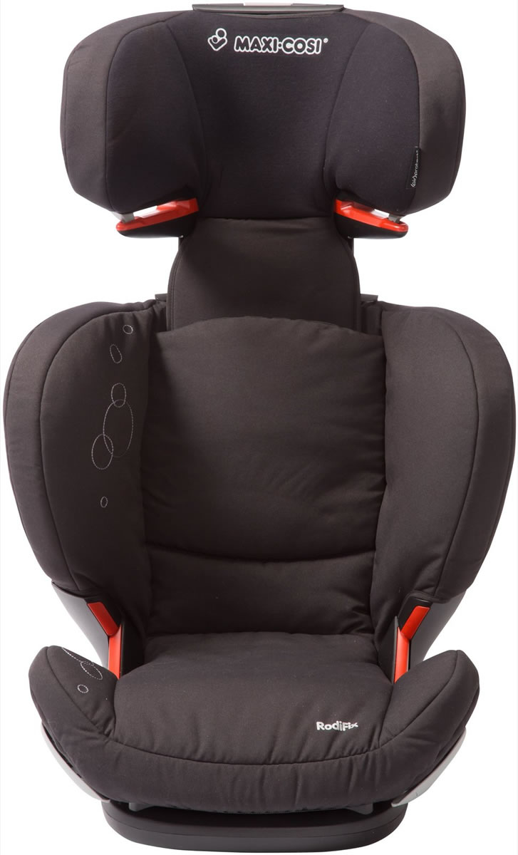 maxi cosi rodifix booster car seat in total black. Black Bedroom Furniture Sets. Home Design Ideas