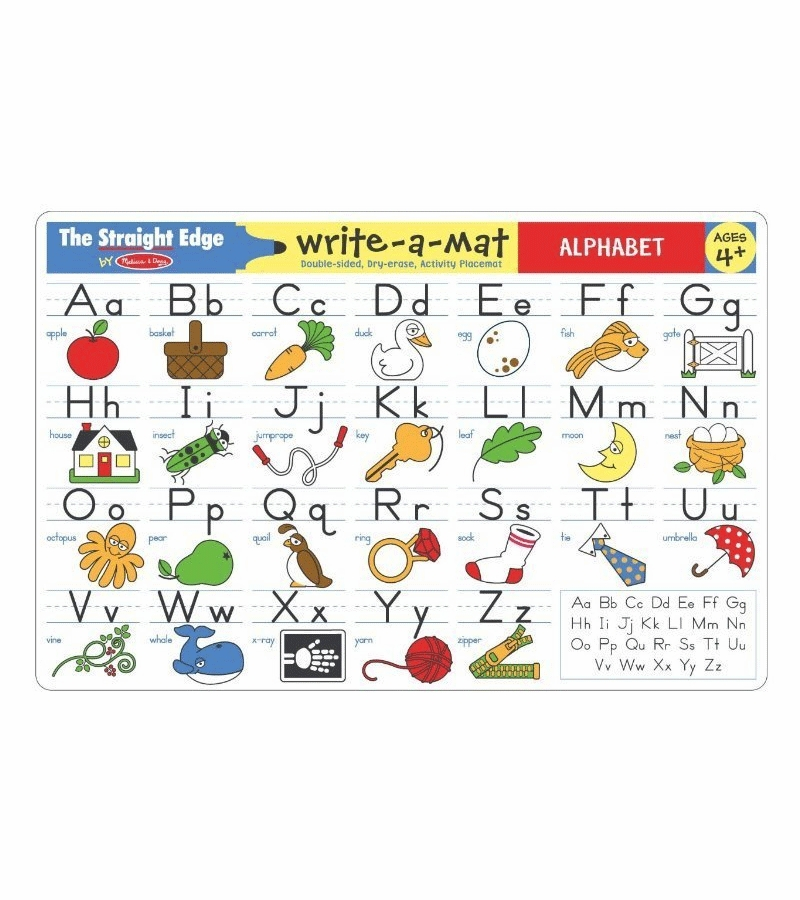 Melissa doug write a mat alphabet for Baby care play mat letters numbers grey large