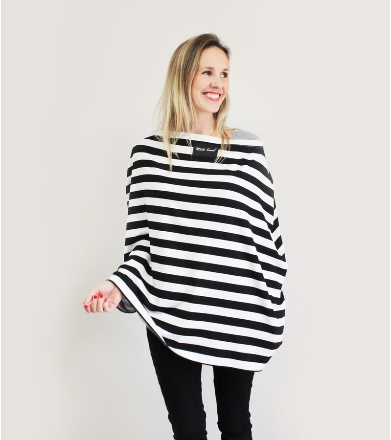 Item # MS BWSTRIPE  Nursing Cover
