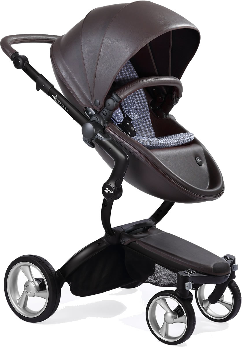 Mima Xari Complete Stroller, Black - Chocolate Brown / Retro Blue
