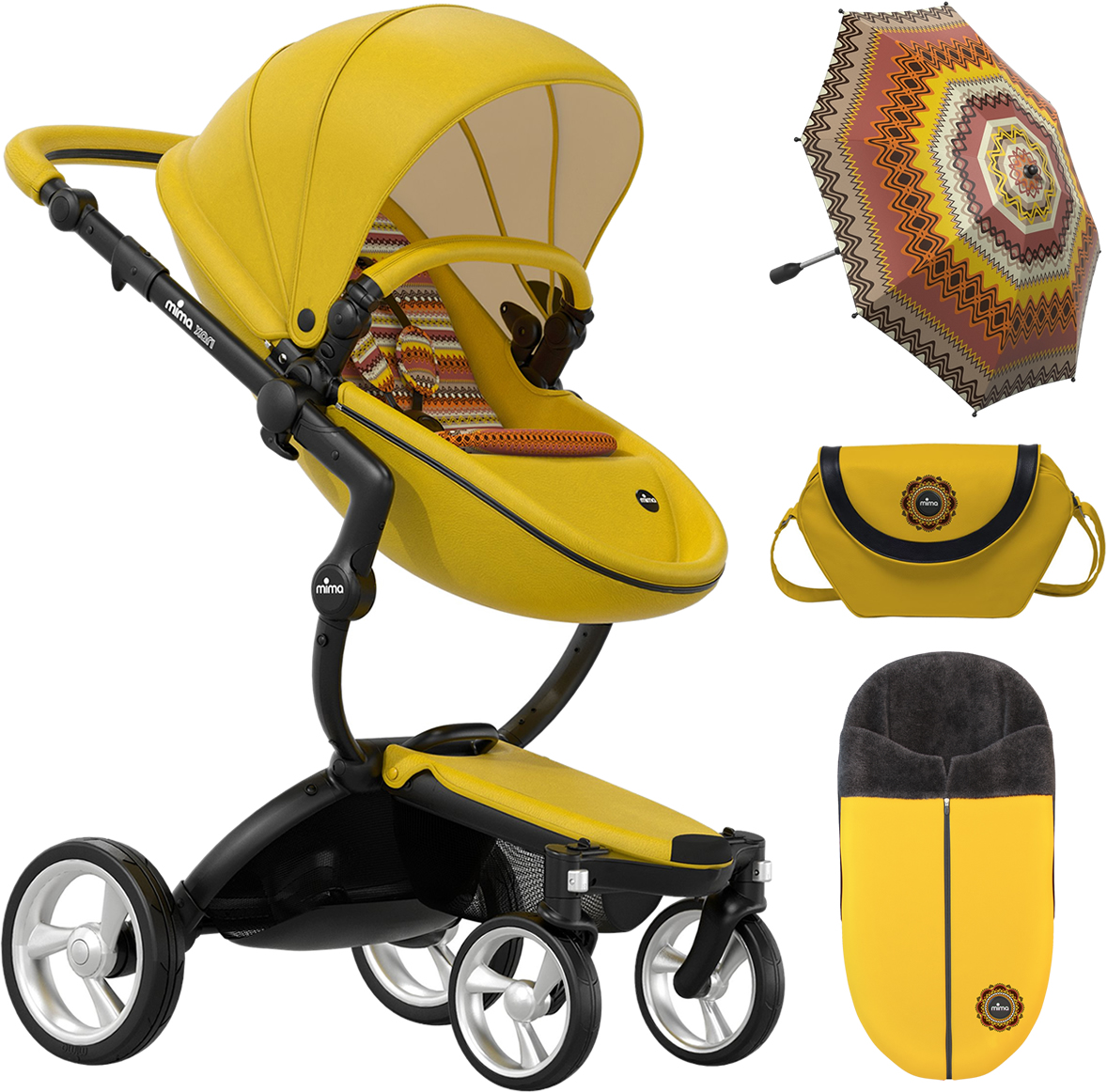 Mima Xari Complete Stroller, Limited Edition - Yellow
