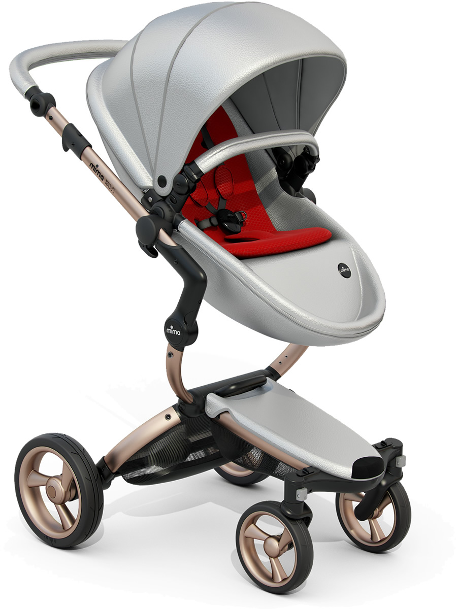 Mima Xari Complete Stroller, Rose Gold - Argento / Red