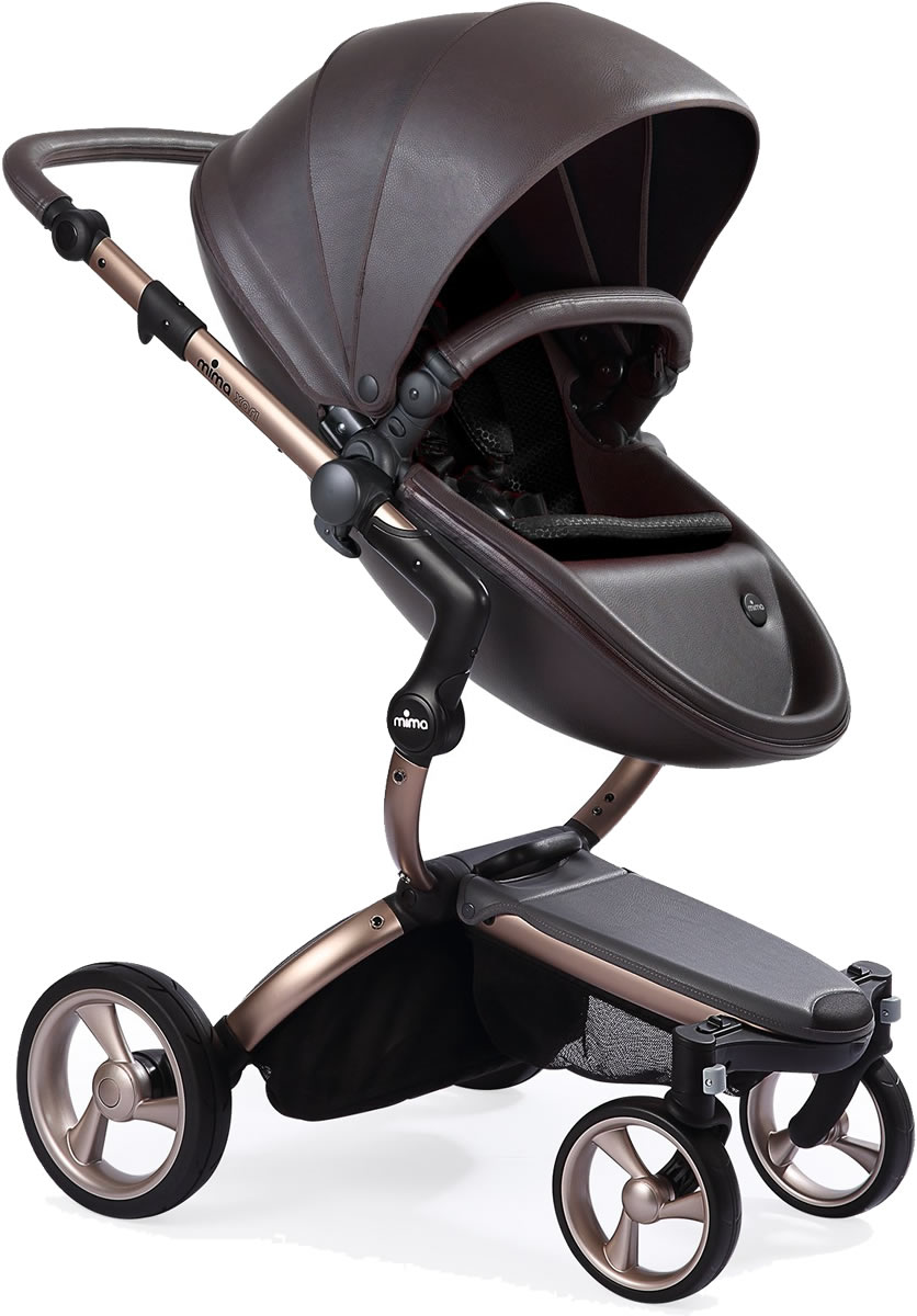 Mima Xari Complete Stroller, Rose Gold - Chocolate Brown ...
