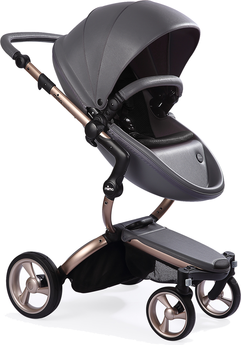 Mima Xari Complete Stroller, Rose Gold - Cool Grey / Black