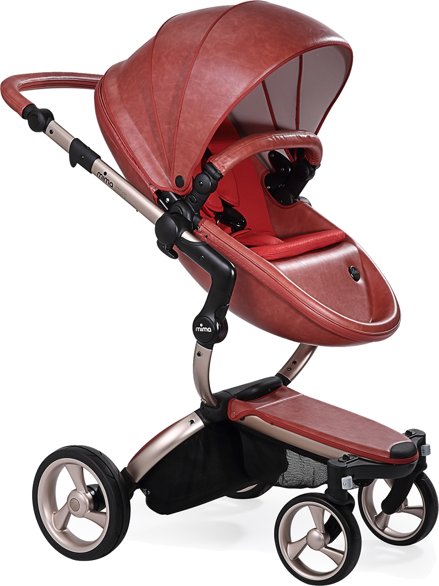 Mima Xari Complete Stroller, Rose Gold - Sicilian Red / Red