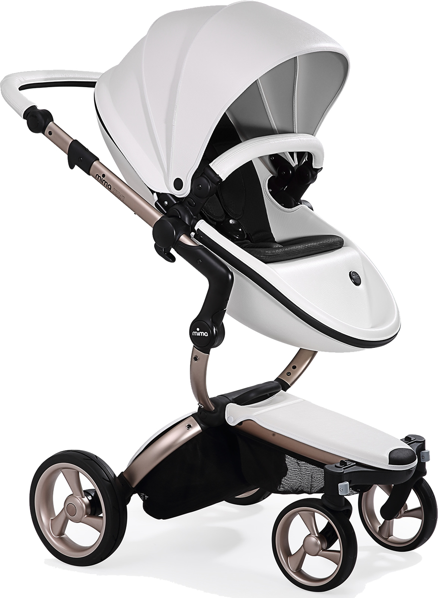 Mima Xari Complete Stroller, Rose Gold - Snow White / Black