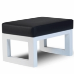 Monte Design Joya Ottoman in Black Bonded Leather