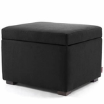 Monte Design Storage Ottoman in Black