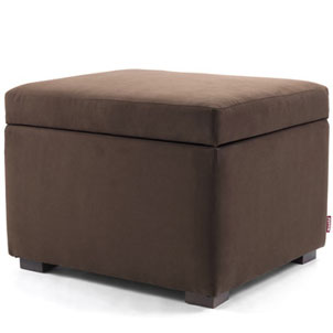 Monte Storage Ottoman in Bonded Leather Brown