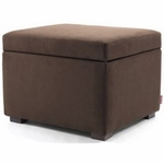 Monte Design Storage Ottoman in Brown