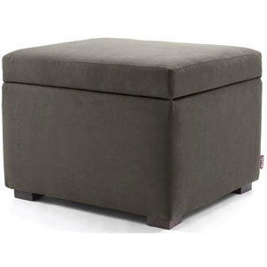 Monte Storage Ottoman in Charcoal