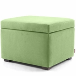 Monte Design Storage Ottoman in Lime Green