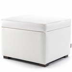 Monte Design Storage Ottoman in White