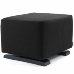 Monte Design Vola Ottoman in Black Bonded Leather