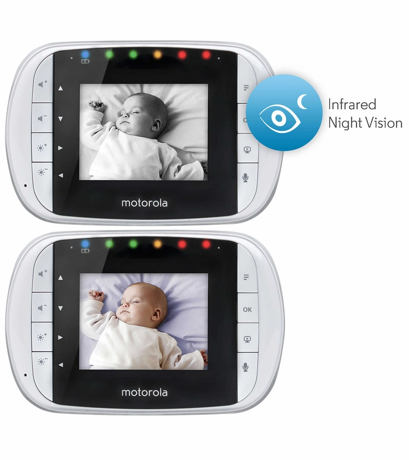 motorola wireless 2 8 video baby monitor with usb zoom. Black Bedroom Furniture Sets. Home Design Ideas