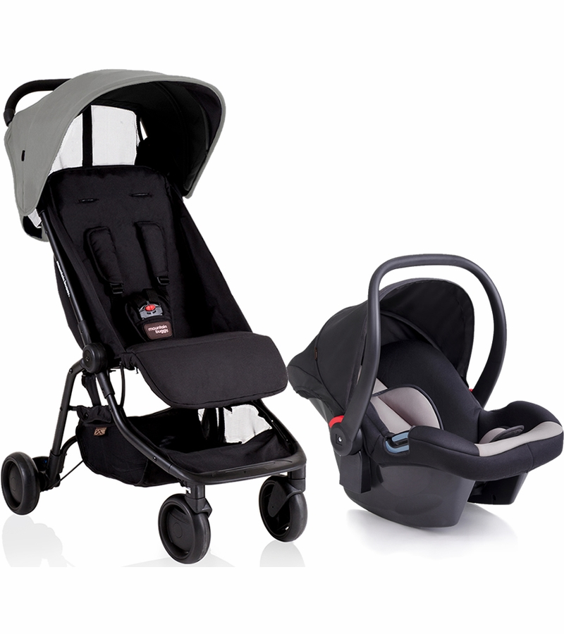 Mountain Buggy Nano Protect Travel System Silver Albee Baby