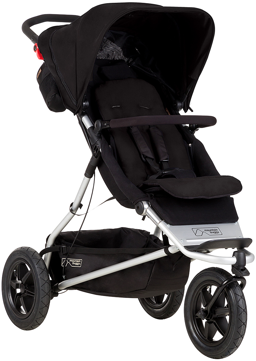 Mountain Buggy Plus One Double Stroller - Black
