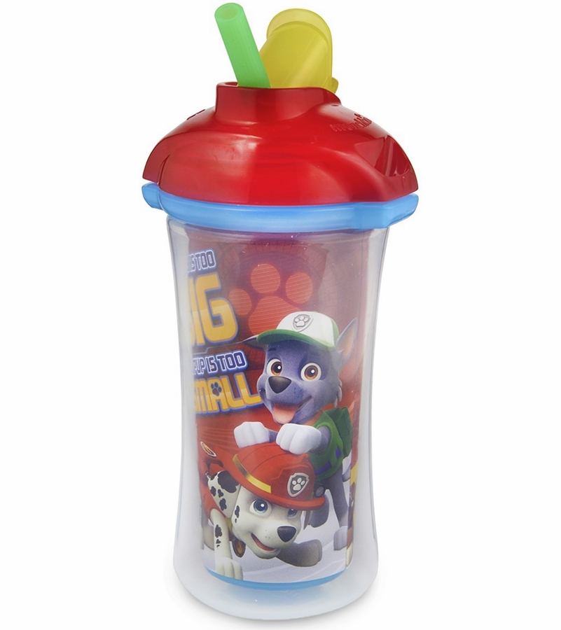 Munchkin Paw Patrol Click Lock Insulated Straw Cup 9oz Red