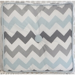 My Baby Sam Chevron Baby Aqua Throw Pillow