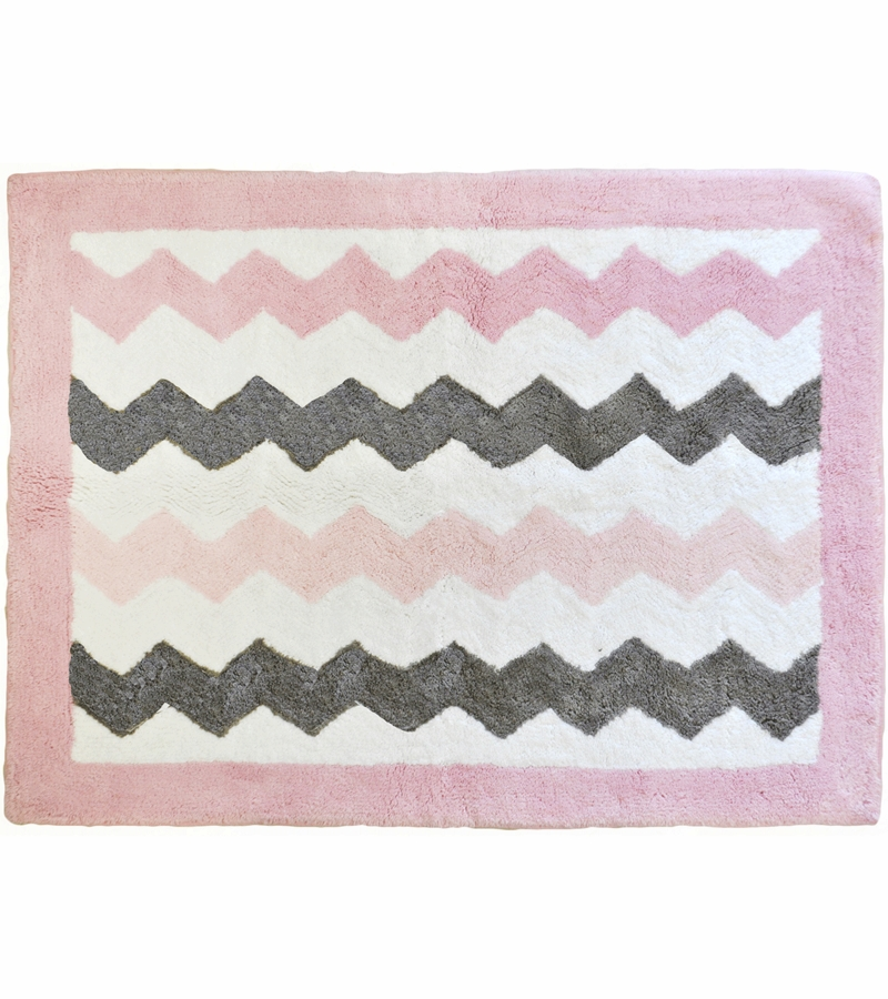 Baby Pink Bathroom Rugs: My Baby Sam Chevron Baby Pink Rug