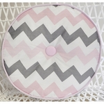 My Baby Sam Chevron Baby Pink Throw Pillow