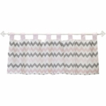 My Baby Sam Chevron Baby Pink Window Valance