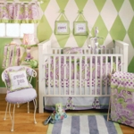 My Baby Sam Sweet Pea 4 Piece Crib Bedding Set