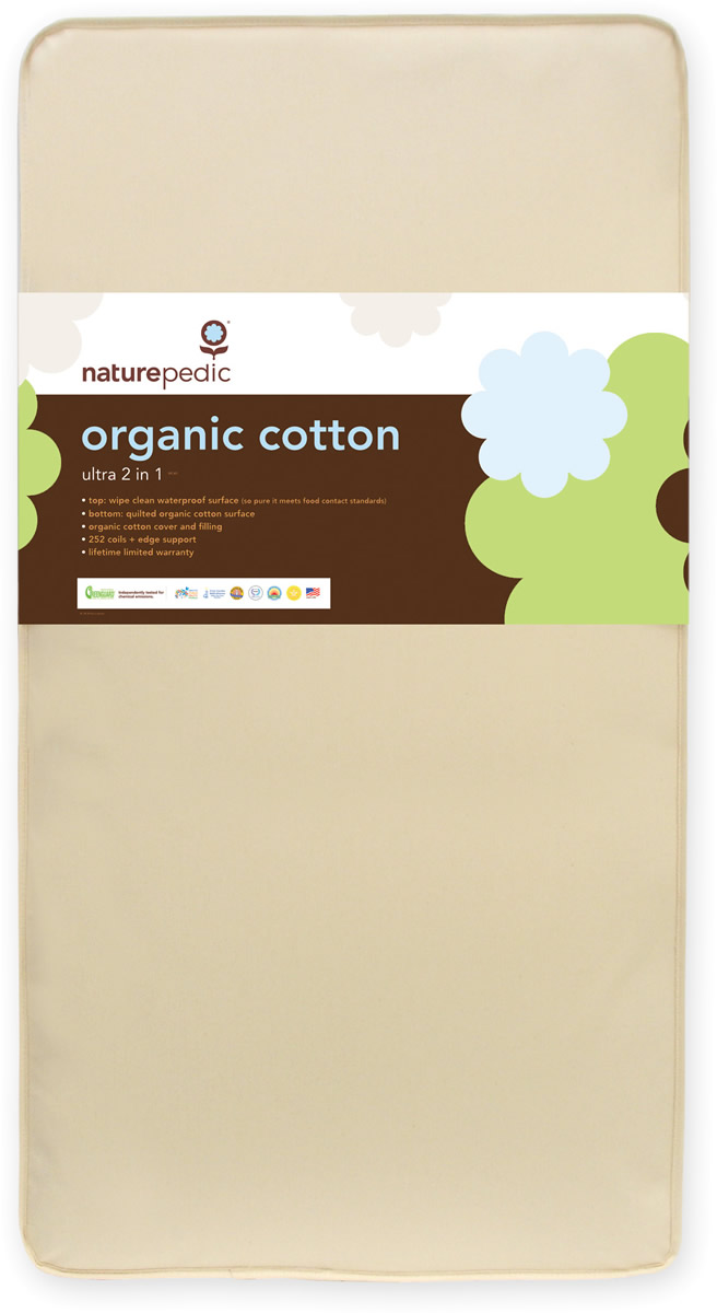 NaturePedic MC45 Combo 2 in 1 Organic Cotton Ultra Crib M...