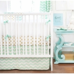 New Arrivals Gold Rush in Mist 3 Piece Crib Bedding Set