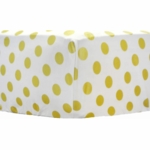 New Arrivals Gold Rush in Mist Crib Sheet