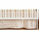 New Arrivals Gold Rush in Pink Crib Skirt