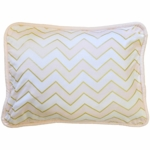 New Arrivals Gold Rush in Pink Throw Pillow
