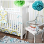 New Arrivals Indigo Summer 3 Piece Baby Crib Bedding Set