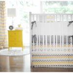 New Arrivals Mellow Yellow 4 Piece Crib Bedding Set