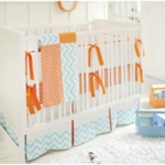 New Arrivals Orange Crush 4 Piece Crib Bedding Set