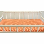 New Arrivals Orange Crush Changing Pad Cover